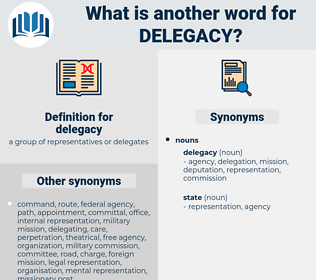 delegacy, synonym delegacy, another word for delegacy, words like delegacy, thesaurus delegacy