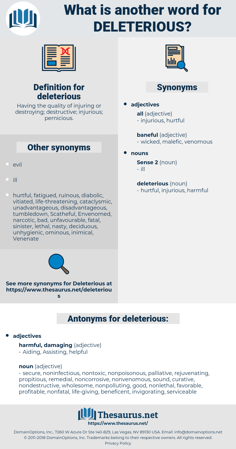 deleterious, synonym deleterious, another word for deleterious, words like deleterious, thesaurus deleterious