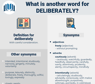 deliberately, synonym deliberately, another word for deliberately, words like deliberately, thesaurus deliberately