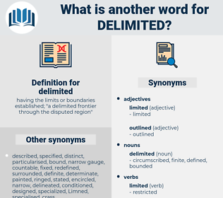 delimited, synonym delimited, another word for delimited, words like delimited, thesaurus delimited