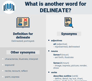 delineate, synonym delineate, another word for delineate, words like delineate, thesaurus delineate