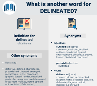 delineated, synonym delineated, another word for delineated, words like delineated, thesaurus delineated