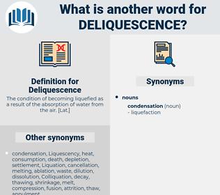 Deliquescence, synonym Deliquescence, another word for Deliquescence, words like Deliquescence, thesaurus Deliquescence