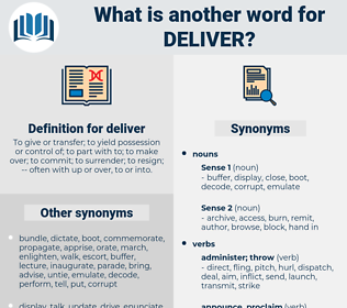 deliver, synonym deliver, another word for deliver, words like deliver, thesaurus deliver