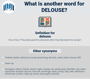 delouse, synonym delouse, another word for delouse, words like delouse, thesaurus delouse