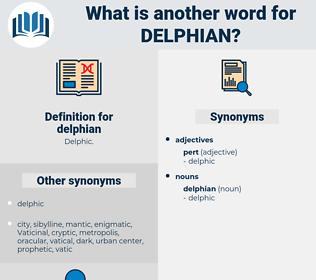 delphian, synonym delphian, another word for delphian, words like delphian, thesaurus delphian
