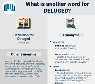 Deluged, synonym Deluged, another word for Deluged, words like Deluged, thesaurus Deluged