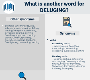 Deluging, synonym Deluging, another word for Deluging, words like Deluging, thesaurus Deluging