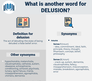 delusion, synonym delusion, another word for delusion, words like delusion, thesaurus delusion