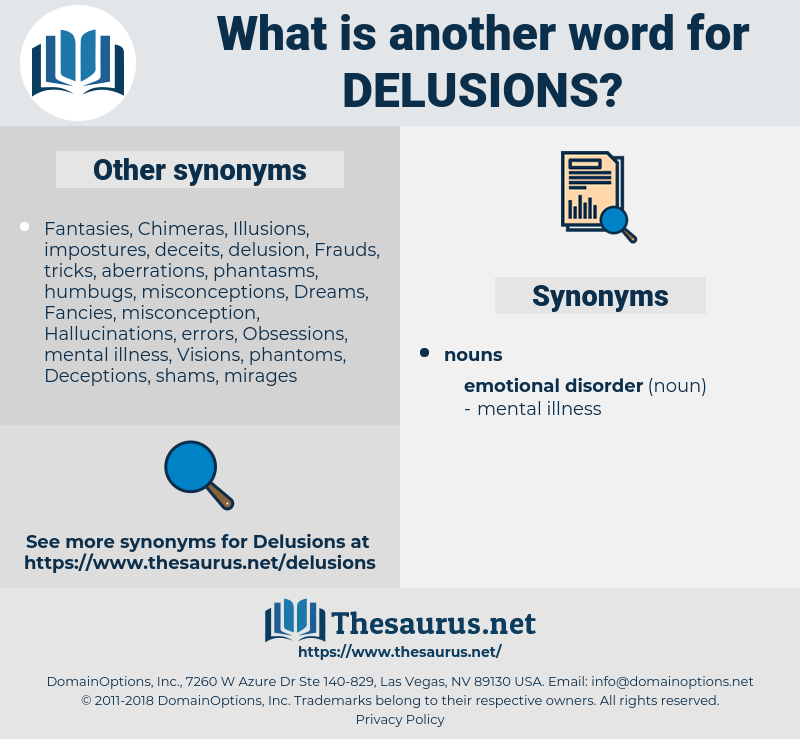 delusions, synonym delusions, another word for delusions, words like delusions, thesaurus delusions
