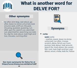delve for, synonym delve for, another word for delve for, words like delve for, thesaurus delve for