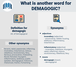 demagogic, synonym demagogic, another word for demagogic, words like demagogic, thesaurus demagogic