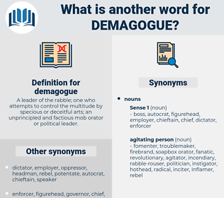 demagogue, synonym demagogue, another word for demagogue, words like demagogue, thesaurus demagogue
