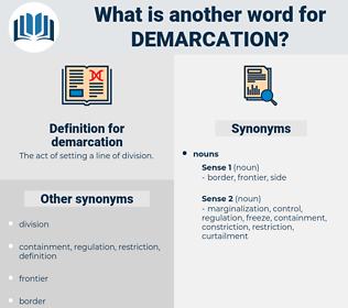 demarcation, synonym demarcation, another word for demarcation, words like demarcation, thesaurus demarcation