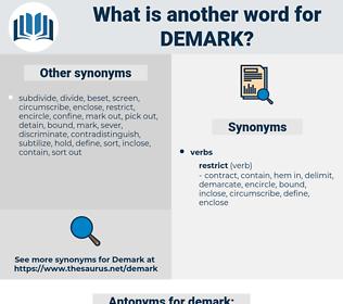 demark, synonym demark, another word for demark, words like demark, thesaurus demark