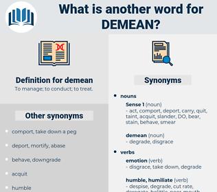 demean, synonym demean, another word for demean, words like demean, thesaurus demean