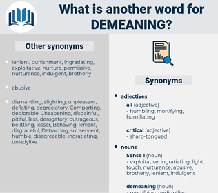 demeaning, synonym demeaning, another word for demeaning, words like demeaning, thesaurus demeaning