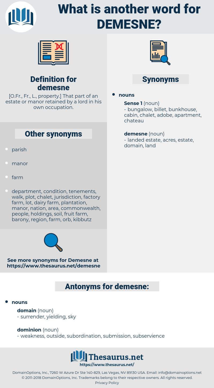 demesne, synonym demesne, another word for demesne, words like demesne, thesaurus demesne