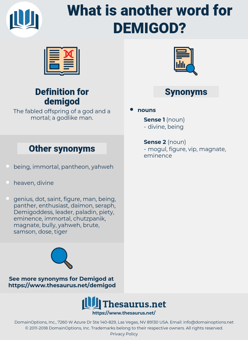 demigod, synonym demigod, another word for demigod, words like demigod, thesaurus demigod