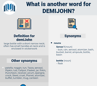 demiJohn, synonym demiJohn, another word for demiJohn, words like demiJohn, thesaurus demiJohn