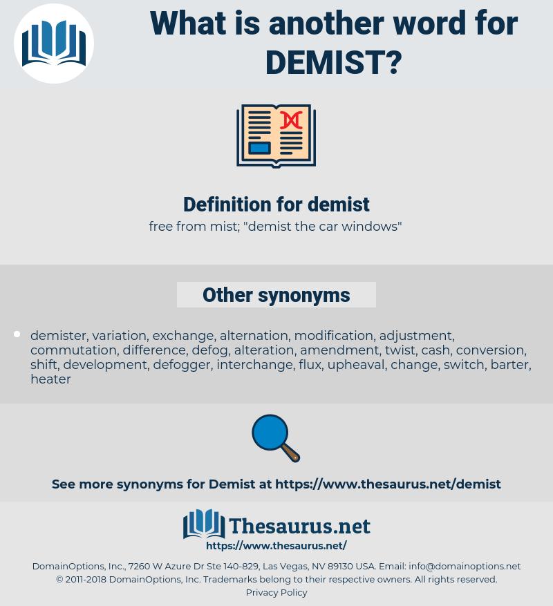 demist, synonym demist, another word for demist, words like demist, thesaurus demist