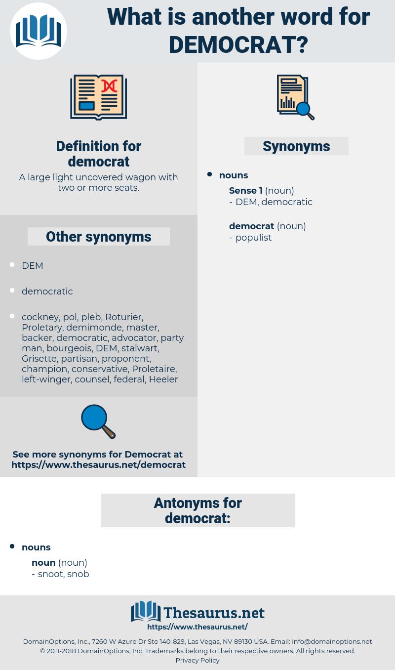 democrat, synonym democrat, another word for democrat, words like democrat, thesaurus democrat
