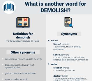 demolish, synonym demolish, another word for demolish, words like demolish, thesaurus demolish