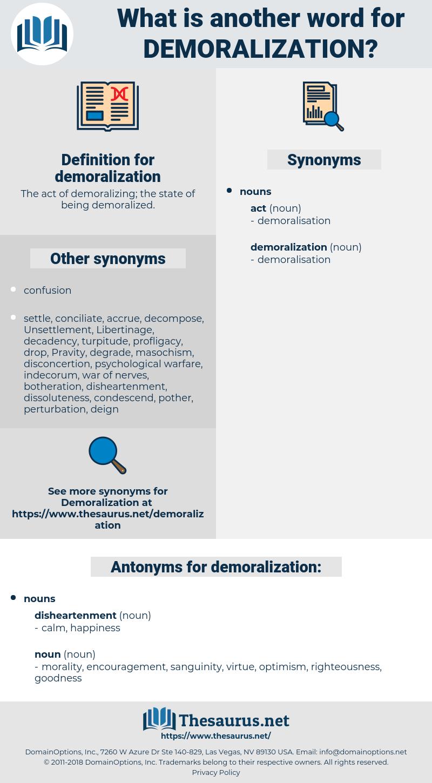 demoralization, synonym demoralization, another word for demoralization, words like demoralization, thesaurus demoralization