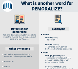 demoralize, synonym demoralize, another word for demoralize, words like demoralize, thesaurus demoralize
