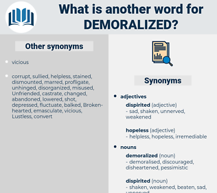 demoralized, synonym demoralized, another word for demoralized, words like demoralized, thesaurus demoralized