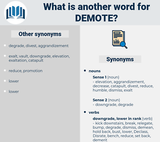 demote, synonym demote, another word for demote, words like demote, thesaurus demote