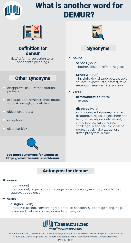 demur, synonym demur, another word for demur, words like demur, thesaurus demur