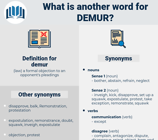 demur, synonym demur, another word for demur, words like demur, thesaurus demur
