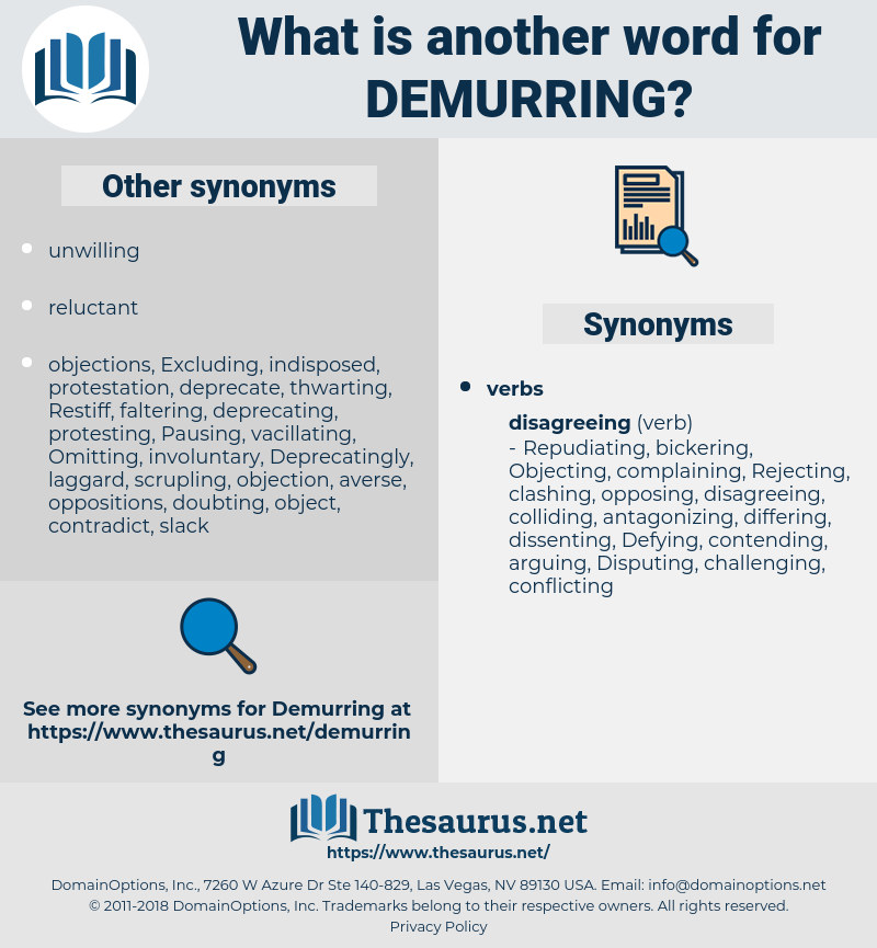 Demurring, synonym Demurring, another word for Demurring, words like Demurring, thesaurus Demurring