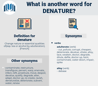 denature, synonym denature, another word for denature, words like denature, thesaurus denature