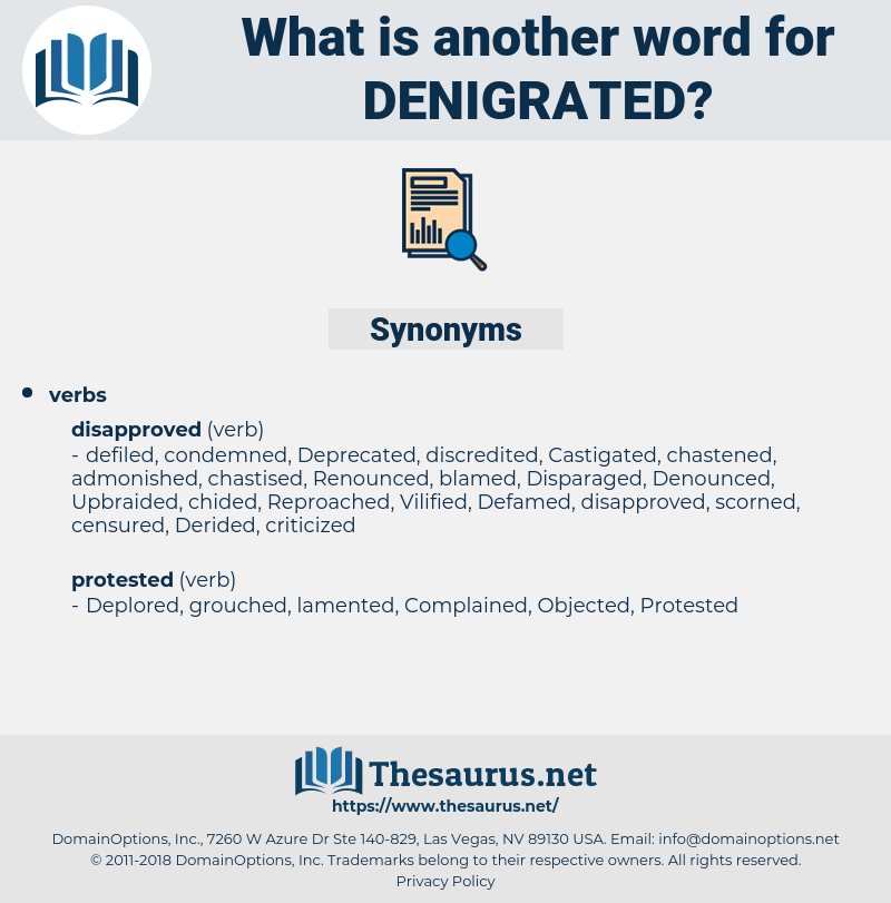 denigrated, synonym denigrated, another word for denigrated, words like denigrated, thesaurus denigrated