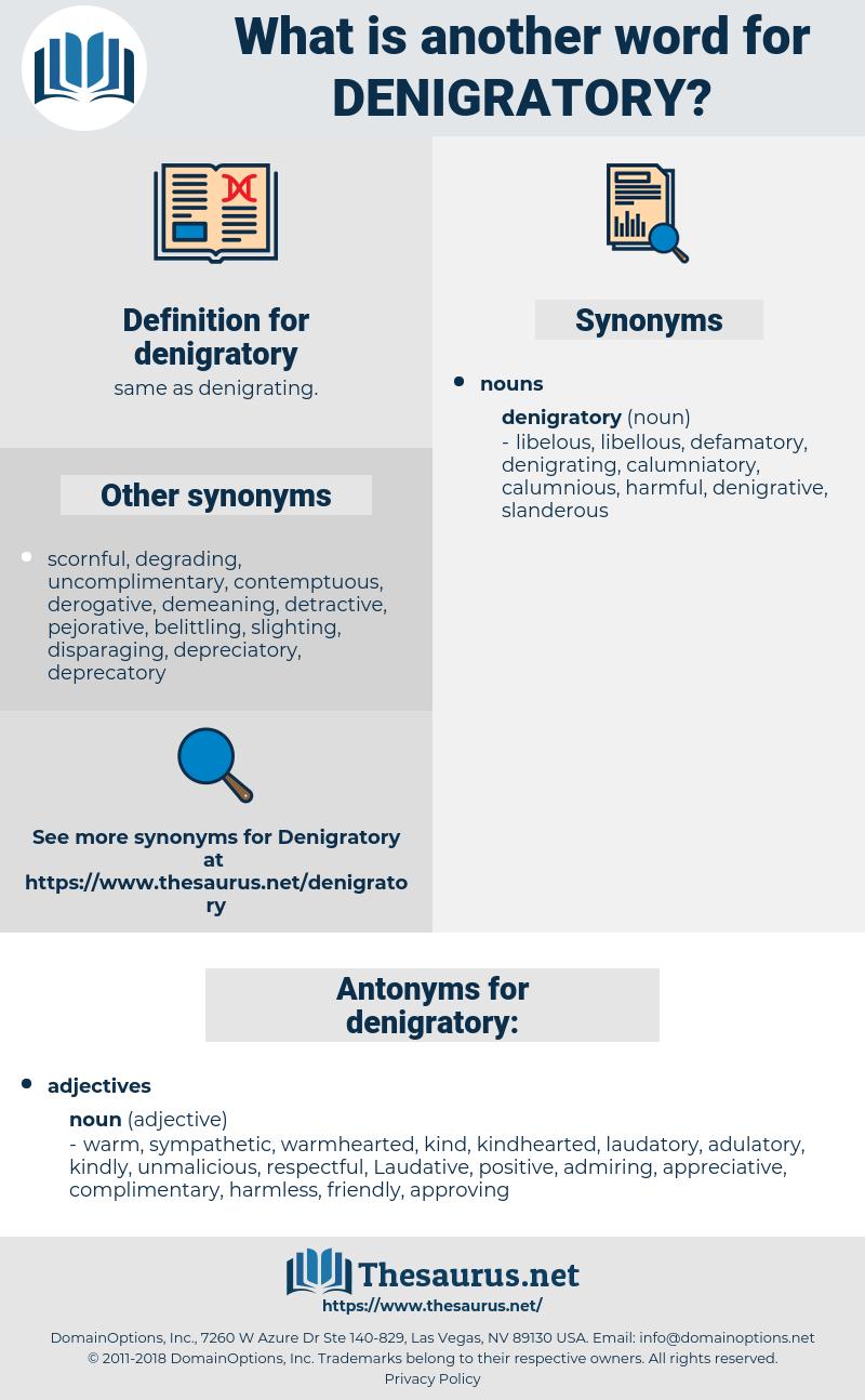 denigratory, synonym denigratory, another word for denigratory, words like denigratory, thesaurus denigratory