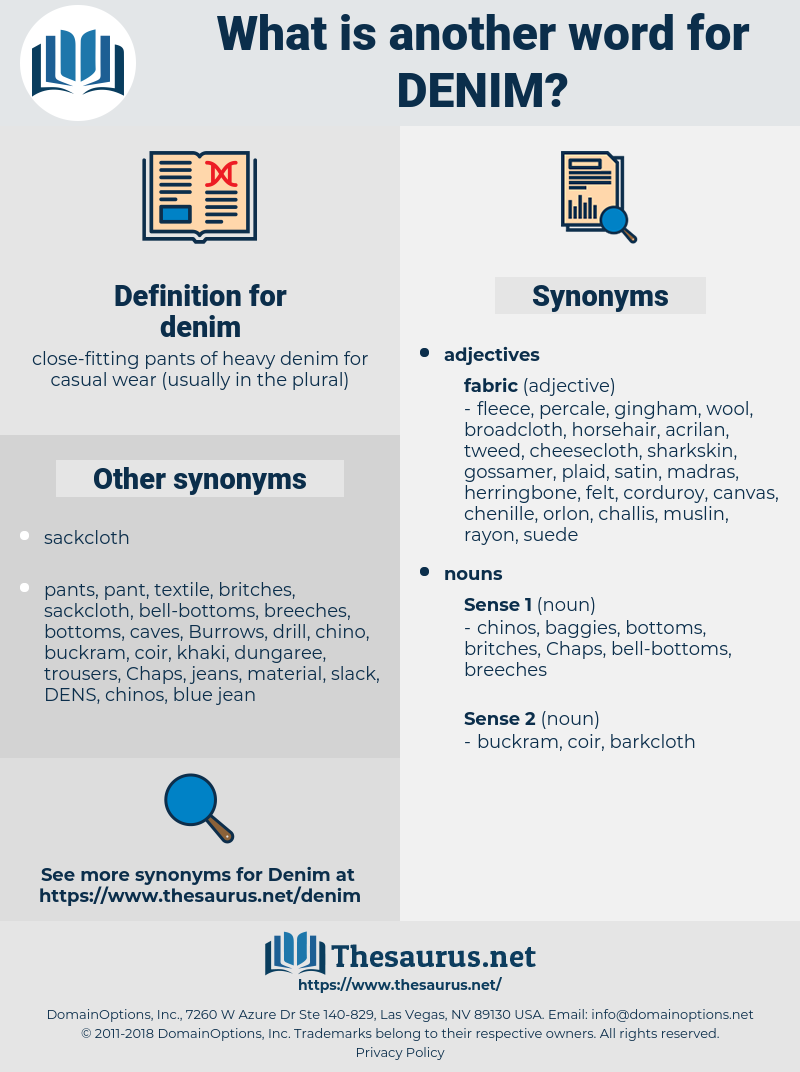 denim, synonym denim, another word for denim, words like denim, thesaurus denim