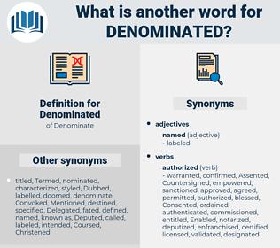 Denominated, synonym Denominated, another word for Denominated, words like Denominated, thesaurus Denominated