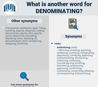 Denominating, synonym Denominating, another word for Denominating, words like Denominating, thesaurus Denominating