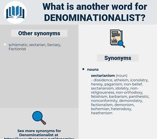 Denominationalist, synonym Denominationalist, another word for Denominationalist, words like Denominationalist, thesaurus Denominationalist