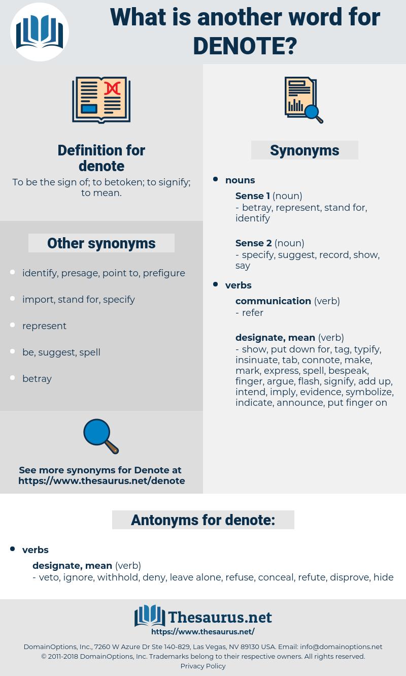 denote, synonym denote, another word for denote, words like denote, thesaurus denote