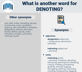 Denoting, synonym Denoting, another word for Denoting, words like Denoting, thesaurus Denoting