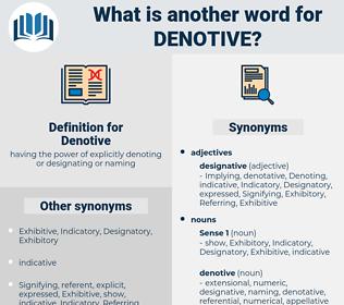 Denotive, synonym Denotive, another word for Denotive, words like Denotive, thesaurus Denotive