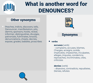 denounces, synonym denounces, another word for denounces, words like denounces, thesaurus denounces