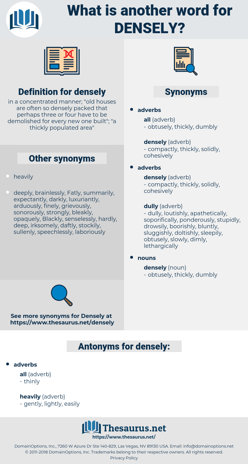 densely, synonym densely, another word for densely, words like densely, thesaurus densely