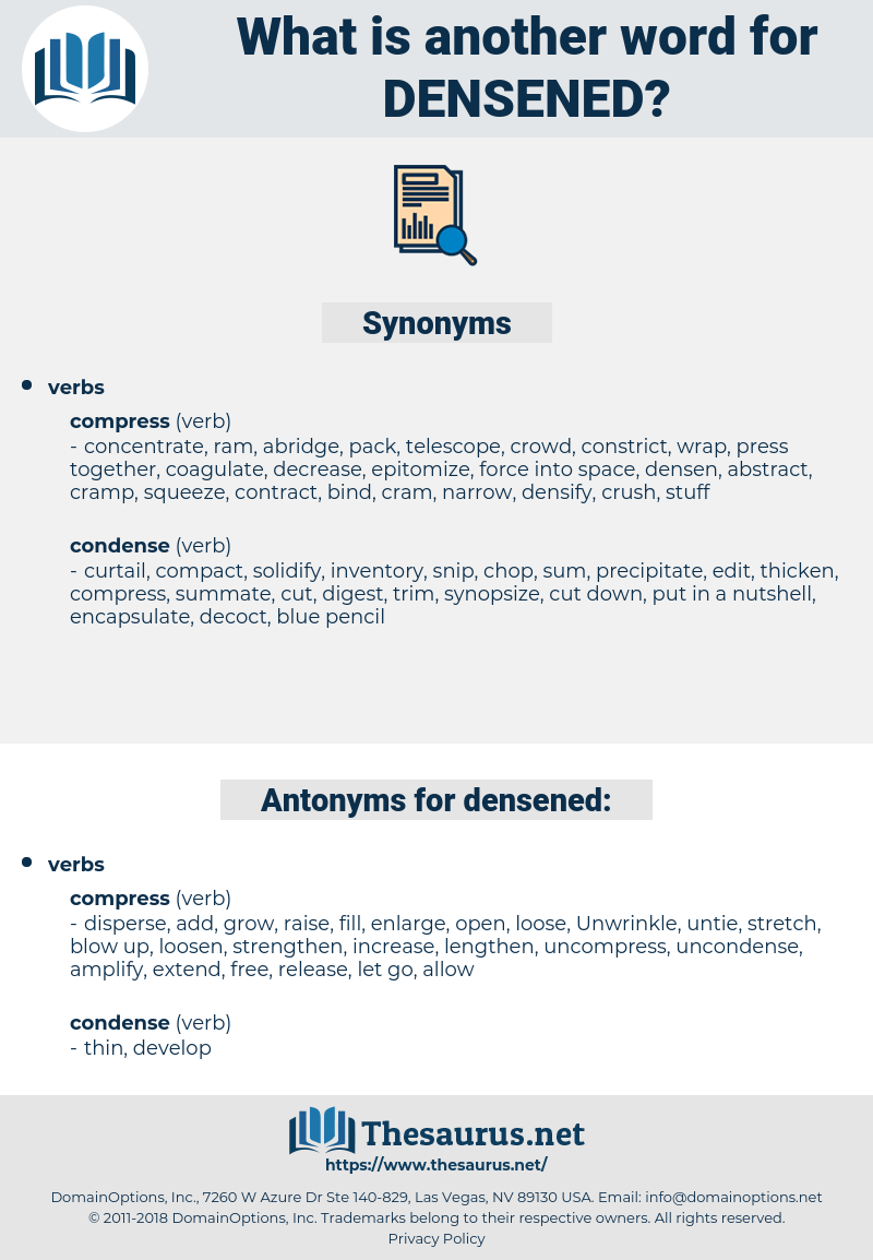 densened, synonym densened, another word for densened, words like densened, thesaurus densened