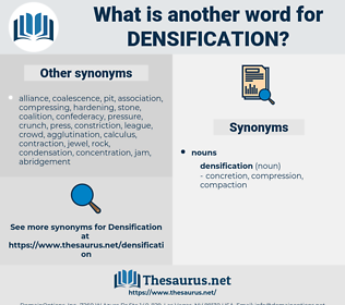 densification, synonym densification, another word for densification, words like densification, thesaurus densification