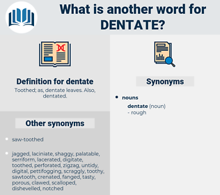 dentate, synonym dentate, another word for dentate, words like dentate, thesaurus dentate