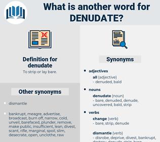 denudate, synonym denudate, another word for denudate, words like denudate, thesaurus denudate
